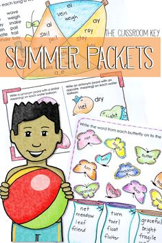 Summer Packet for 2nd grade ($) fun reading, writing, and math activities to help students avoid the summer slump, parent friendly