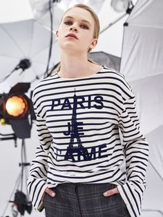 PARIS JE T`AIME T-SHIRTS_NAVY