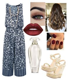 """""""JuMPSUIT 💋"""" by kayla1021 ❤ liked on Polyvore featuring Thakoon, Christian Louboutin, Marc Jacobs, Victoria's Secret and Lime Crime"""