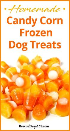 Fun and Unique Homemade Halloween Candy Corn Frozen Dog Treats different frozen dog treat recipes included) Easy Dog Treat Recipes, Homemade Dog Treats, Healthy Dog Treats, Dog Food Recipes, Pet Treats, Frozen Dog Treats, Dog Biscuit Recipes, Watermelon Recipes, Dog Biscuits