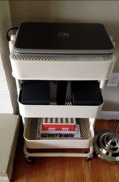 Paper storage ikea raskog cart Ideas for 2019 Raskog Ikea, Ikea Duktig, Ikea Organization Hacks, Office Supply Organization, Organizing Papers, Kitchen Organization, Hemnes, Hack Ikea, Kitchen Ikea