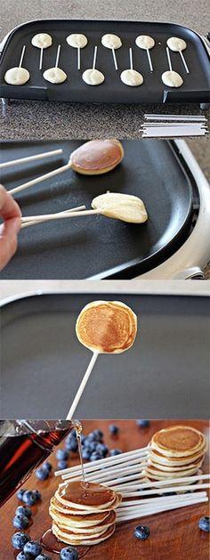 Make pancake pops