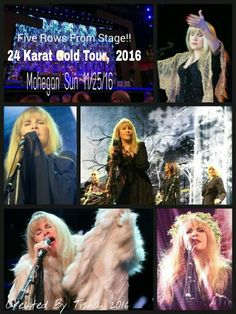Stevie Nicks 24 Karat Gold Tour 2016 Collage Created By Tisha 11/30/16