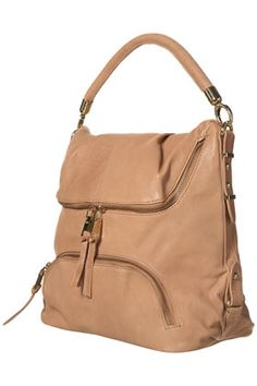 top shop nude leather slouch bag. must have