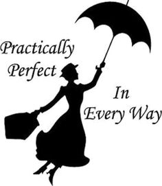 'Mary Poppins - practically perfect Sticker by planwdw Disney Diy, Disney Crafts, Disney Love, Disney Mickey, Disney Silhouette Art, Silhouette Design, Mary Poppins Silhouette, Disney Stencils, Mary Poppins Quotes