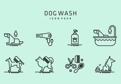 Dog Wash, Icon Pack, Art Images, Vector Art, Clip Art, Comics, Illustration, Dogs, Artist
