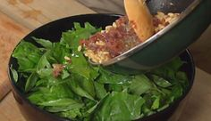 Warm Spinach and Basil Salad from P. Allen Smith