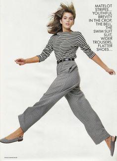 Model : Cindy Crawford  Magazine : Vogue UK  Year : January 1987  Photographer : Patrick Demarchelier