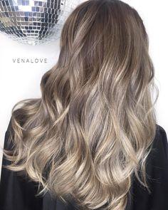 Ash Blonde And Brown Balayage Hair