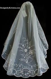 Belgian bridal veil