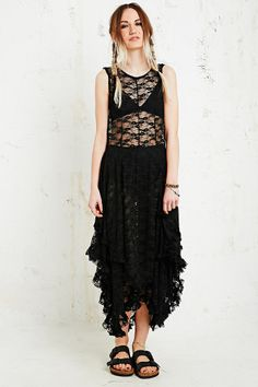 Free People French Court Lace Maxi Dress