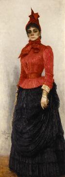 Ilya Repin (Russian), Portrait of Baroness Varvara Ikskul von Hildenbrandt, 1899