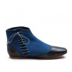2a1a5a71241a Gettysburg Victorian Side-Lace Boots (Blue)(1830-1860s) Victorian Boots