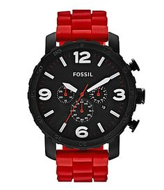 Fossil Nate Mens Red