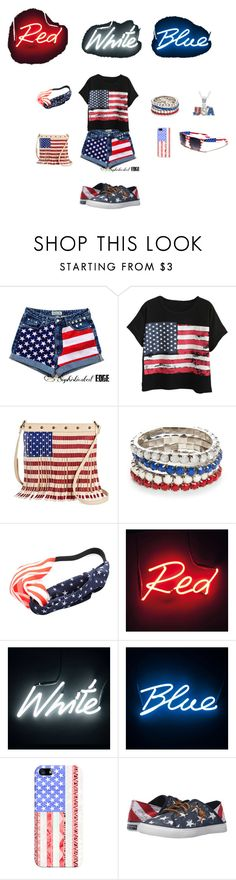 """""""God Bless America"""" by rfaber on Polyvore featuring Chicnova Fashion, TWIG & ARROW, Red Camel, Seletti, Casetify, Sperry and Crystal Sophistication"""