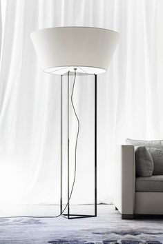 Fabric floor lamp DISCO By ERBA ITALIA design Giorgio Soressi