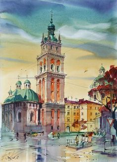 Lviv, The Church of the Assumption / watercolor on paper / 30 x 40 cm, 2010