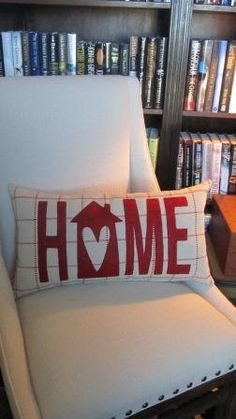 HOME pillow by agraceunlimited on Etsy, $70.00