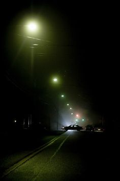 car In Street Night by tony wood photo
