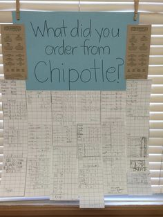 During our unit on decimals I had children choose items from a Chipotle menu and add up the items on graph paper. Students that wanted to be challenged had to add up at least 6 items. The parents loved looking at it on Open House!
