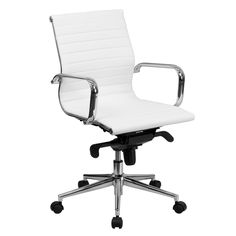 Unique White Leather Office Chair