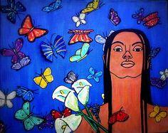 Woman With Lilies~Original Art-Elizabeth A Soroka