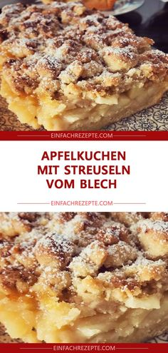 Apfelkuchen mit Streuseln vom Blech 😍 😍 😍 Apple cake with sprinkles from sheet metal 😍 😍 😍 Easy Smoothie Recipes, Easy Smoothies, Easy Cake Recipes, Cupcake Recipes, Cookie Recipes, Snack Recipes, Dessert Recipes, Snacks, Healthy Recipes