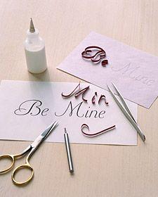Quilling Valentines: Script