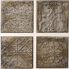 Embossed Tiles Wall Decor