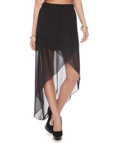 Forever 21: Chiffon High-Low Wrap Skirt. I love this! I think this could be a great DIY too :)