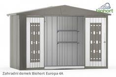 Zahradní domek EUROPA 4A, tmavě šedá metalíza        - Kliknutím zobrazíte detail obrázku.