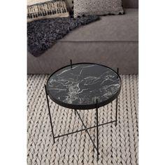 Table basse design ronde Cupid marbre Noir Drawer