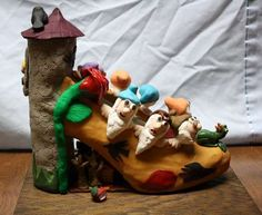 Grimm Fairy Tale Polymer Clay Shoe