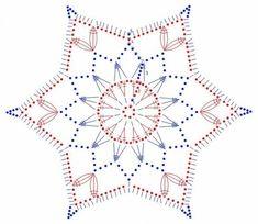 Patrón de estrella de ganchillo