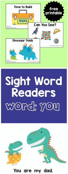 "Sight Word Readers for the Word ""You"" - Teaching Mama Preschool Sight Words, Sight Word Activities, Preschool Literacy, Phonics Activities, Kindergarten Reading, Reading Activities, Word Games, Classroom Activities, Classroom Decor"