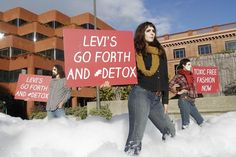 """Levi Strauss is the 11th company to sign on to the Greenpeace """"Detox"""" campaign since it began in July 2011 with a report on hazardous chemicals in water discharged in China. Puma, Nike, Adidas and British clothing giant Marks & Spencer are among the brands and companies that are now targeting the 2020goal. the international environmental group released its report """"Toxic Threads: Under Wraps"""""""