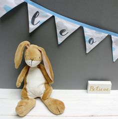 Blue Cloud Bunting - Personalised Bunting for Baby Boy Nursery Decor / Cloud Nursery Decor / Cloud Decor by on Etsy Cloud Nursery Decor, Clouds Nursery, Baby Boy Nursery Decor, Baby Boy Nurseries, Nursery Themes, Themed Nursery, Personalised Bunting, Personalized Baby Gifts, Unicorn Bedroom Decor
