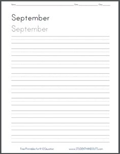Days Of The Week Handwriting Practice Worksheets