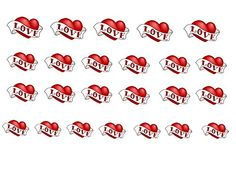 Easy to use, High Quality Nail Art For Every Occasion! Heart Love SimplyNailArtDesign