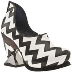 Irregular Choice Botoxic zig zag shoes - love the heel on these!