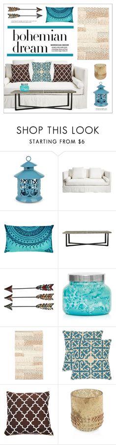 """Bohemian Dream"" by lgb321 ❤ liked on Polyvore featuring interior, interiors, interior design, home, home decor, interior decorating, Capri Blue and Safavieh"