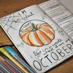 My Bullet Journal page for October. Being the crazy quote fiend I am I need a whole page for a quote each month. #anneofgreengables #pumpkin #fall #autumn #halloween #bujo #bulletjournal #organising #organisedrebellion #quotes #quotestagram #book #books #read #reader #reading #word #words #quotations #inspirationalquotes #inspirationalquote #booknerd #booknerds #literature #englishstudent #bookstagram