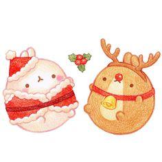 산타몰랑, 루돌프 몰랑!내년에는 산타몰랑이한테 수염도 그려줘야겠어요.행복하고 마음 따뜻한 크리스마스...