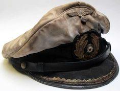 Distressed and over-worn WW2 German Navy U-Boot Commander's cap.