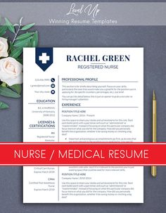 Nurse Resume Template  Doctor Resume Template For Ms Word  Rn