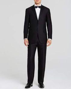 252ff14893e Hart Schaffner Marx Platinum Label Basic Black Classic Fit Tuxedo - 100%  Exclusive Wedding Wear