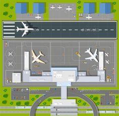 Lego Airport, Vector Design, Graphic Design, Airport Design, Small Space Interior Design, Isometric Art, Flat Design Illustration, Web Project, Space Interiors