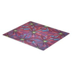 Farberware Floral Glass Cutting Board, Multicolor