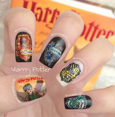 Harry Potter nails. Nail art. Notd