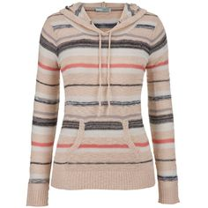 maurices Knit Hoodie With Stripes ($34) ❤ liked on Polyvore featuring tops, hoodies, outerwear, jackets, shirts, multi, striped hoodie, hooded sweatshirt, hoodie shirt and knit shirt